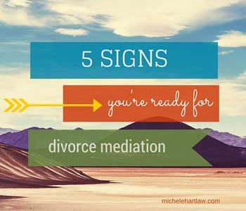 5 signs you're ready for divorce mediation