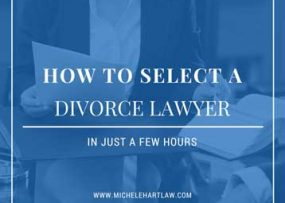 How to select a divorce attorney in just a few hours