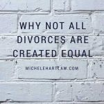 Why not all divorces are created equal